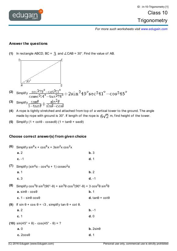math worksheet : online math worksheets grade 10  educational math activities : Online Math Worksheet