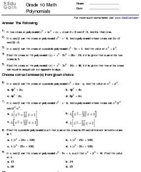 Maths Worksheets For Class 10 - ahmed adam google multiplication ...