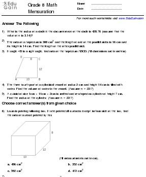 math worksheet : maths worksheets for class 8 : Maths Worksheet For Class 8