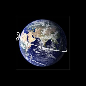 string around earth